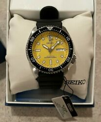Seiko Divers Skxa35 200m Yellow Automatic Mens Watch Rare Discontinued 7s26-02c7