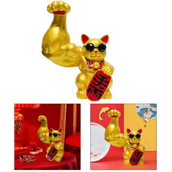 Lucky Cat Figurines Feng Shui Animal Car Table Decor Ornaments Collectibles