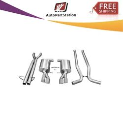 14540 Corsa 304 Ss Cat-back Exhaust System With Quad Rear Exit For Audi S4 05-09