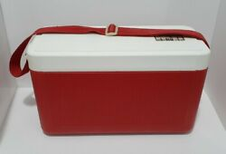 Vintage Red Hamilton Skotch The Party Time Kooler Carry Cooler 66067 - Used