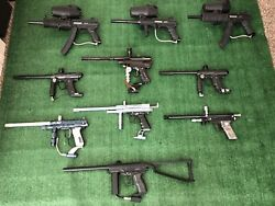 Paintball Gun Lot With Extras