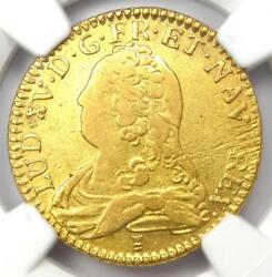 17389 France Louis Xv Louis Dand039or 1land039or Coin - Certified Ngc Au53 - Rare Coin