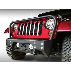 Fab Fours Full Metal Jacket Stubby Winch Bumper With Grill Guard Jk07-b1856-1