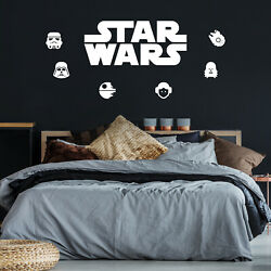 Set of 6 Vinyl Wall Art Decals Star Wars Inspired Characters 4.2* x 4.2*