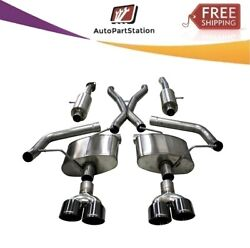21051blk Corsa 304 Ss Cat-back Exhaust System With Quad Rear Exit For Jeep 18-21