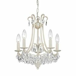Elk Home Victorian 5-light Mini Chandelier In Antique Cream And Clear