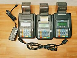 Lot Of 3x Hypercom T7plus + 1 Power Adapter Credit Card Reader Machine Devices
