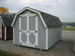 Little Cottage Company Value Gambrel Barn 4and039 Sidewall In 17 Sizes Opt. Floor Kit