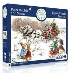 Peter Rabbit And Santa 1000 Pc Puzzle By New York Puzzle Co. Made In The Usa New