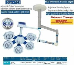 Star 105 Led Light Uv Ir Rays Protects Surgical Operation Theater Single Dome