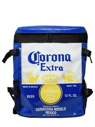 Corona Extra Label Summertime Backpack Cooler Bag Tote Blue New With Tags