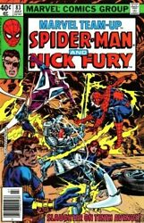 Marvel Team-up Spiderman And Nick Fury Slaughter On By Stan Lee And Chris New