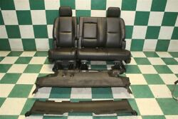 07-14 Gm Suv Swb Black Leather Heated Second 2nd Row Bench Seat W/carpet Oem