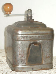 To Seize Antique French Steel Coffee Grinder Mill With Pouring Drawer - Rare