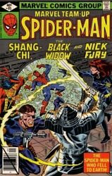 Marvel Team-up Spiderman Shang Chi Black Widow And By Stan Lee And Chris Vg