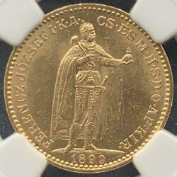 Hungary Gold Coin 1899 Ngc Ms 63 Free Shipping From Japan With Tracking 8520n
