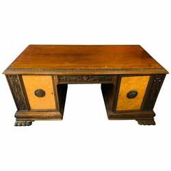 Antique Solid Wood Desk With Landoumlw Ent Guada Mens Room With Root Fillings