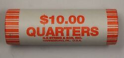 2004-p Wisconsin State Quarter Bu Machine Wrapped Roll- 40 Coins- Sealed