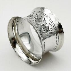 Edwardian Sterling Silver Napkin Ring Birmingham 1909 Joseph Gloster And Sons
