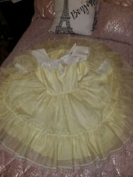 Vintage Yellow Dotted Swiss Pageant Dress Marthaand039s Weand039re Fussy Full Circle 8