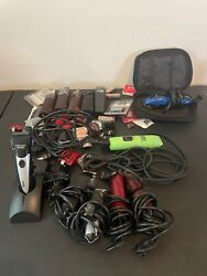 Lot 15 Clippers And Trimmers Mixed Variety Andis, Oster,wahl