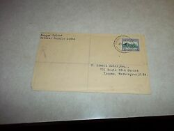 Cook Islands Harbor Stamp On Early Danger Island Cover To Usa Puka Puka