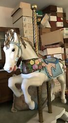 Vintage Carousel Horse Hand Carved And Painted Full Size Rocker S And S Wood Carvers