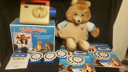 Vintage Teddy Ruxpin Doll Picture Show With 6 Cassettes And 5 Reels 1985 1989 Wow