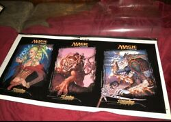 Mtg Magic The Gathering 1999 Mercadian Masques Pre Production Poster Very Rare