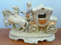 Germany Rare Antique,porcelain Figurine,carriage ,grafenthal Thuringia Marked