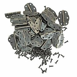 Pgmj 40 Pieces Antique Small Hinges Oil Rubbed Brass Box Hinges For Crafts Wo...