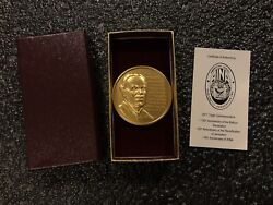 2017 American Israel Numismatic Association 2.5 Ozt 999 Silver Gold Plated 21