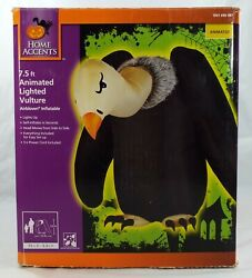 Home Accents Gemmy Airblown Inflatable Animated Lighted Vulture Halloween 7.5ft