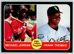 1991 Michael Jordan And Frank Thomas Major League Prospects Chicago White Sox Card
