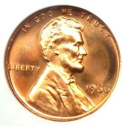 1966 Sms Lincoln Cent 1c Penny - Ngc Ms68 Rd Cameo - 2,500+ Value - Top Pop 3/0