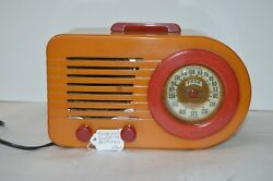 Fada 1000 Red And Butterscotch Bullet Radio