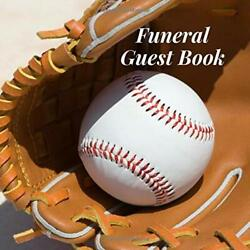 Funeral Guest Book Baseball Glove Sports Fan Memorial By Forever After New