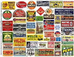 Model Railroad Signs Printed Sheet 56 Coal Oil Farm And Advertising Sign 517