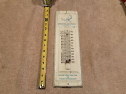 Vintage Original Tin Advertising Sign Thermometer International Salt Co. From Pa
