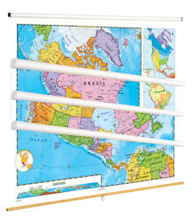 Nystrom Political Relief Maps, Western Hemisphere