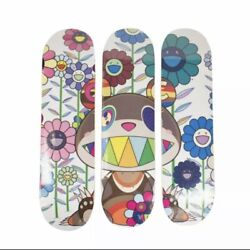 New Takashi Murakami X Complexcon Colorful And039pollutedand039 Set Of 3 Skateboard Deck