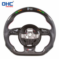 Led Carbon Fiber Steering Wheel Compatible With Toyota Audi S3 Rs3 Ohc Motors