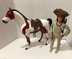 Vintage Marx Johnny West Action Figure With Horse And Accessories Lot