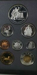 1997 Canadian Silver Mint Coin Set 6 Of 8 Coins Are Sterling Silver