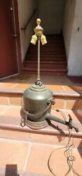 Antique Civil War Platoon Water Canteen Table Lamp Copper 1800s Museum Quality