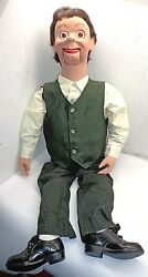 Professional Ventriloquist Dummy Figure Doll Puppet W/ Moving Eyes Free Ship