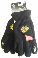 Nhl Chicago Blackhawks Degrees By 180's Winter Fleece Gloves W/ Exhale Heating™