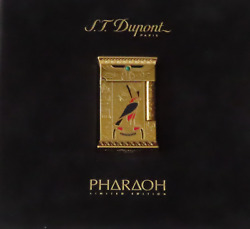 St Dupont Pharaoh Gold Limited Edition. Original Papers And Box. Extremely Rare