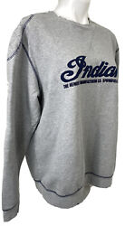 Indian Motorcycle Co. Mens Large Shoulder And Elbow Patches Embroidered Sweatshirt
