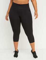Livi Active Lane Bryant Capri Power Leggings Black 18/20 Nwot